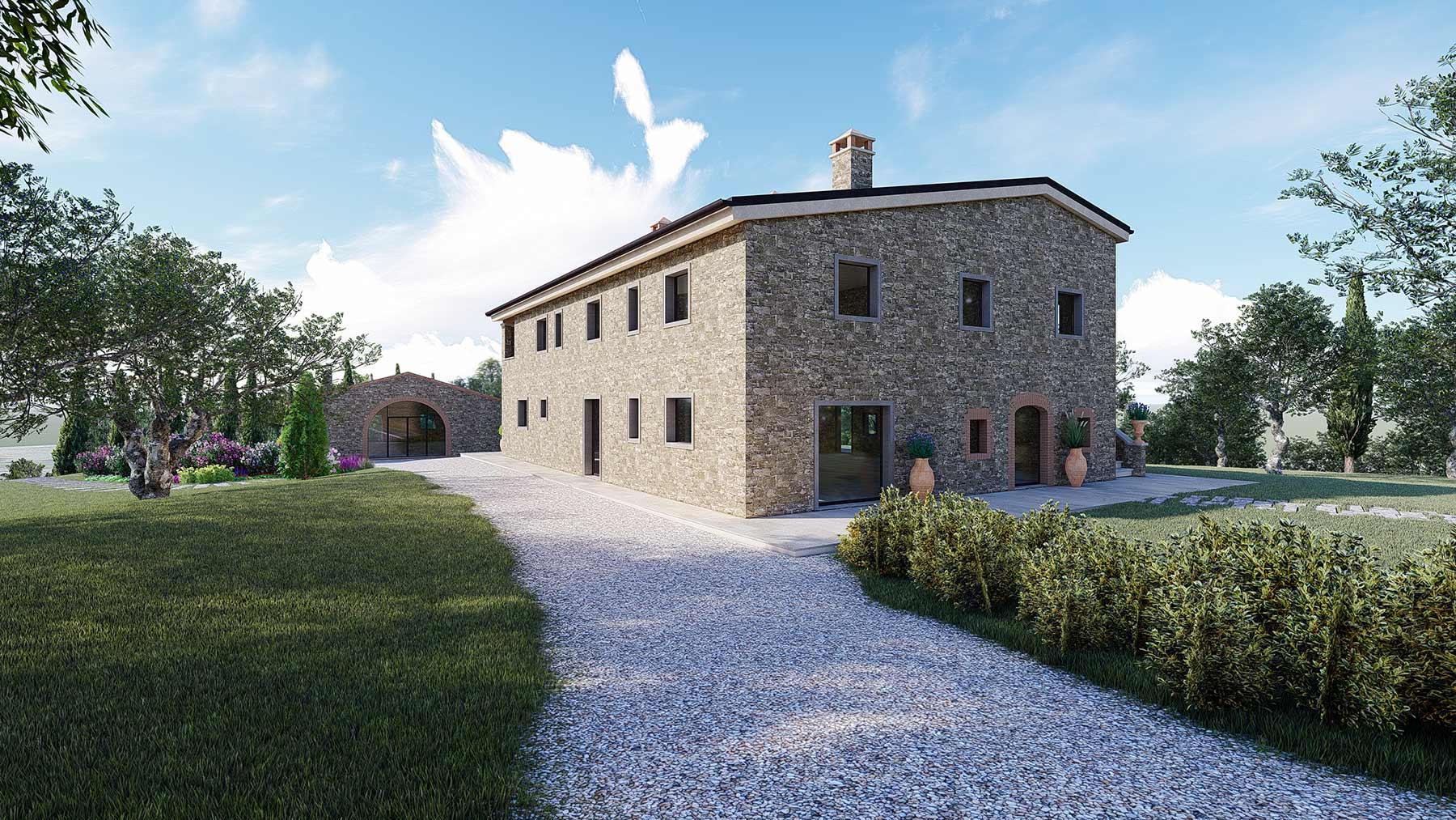farmhouses in Tuscany